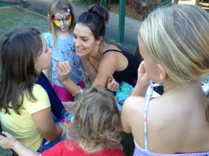 Face Painting at the Community Centre
