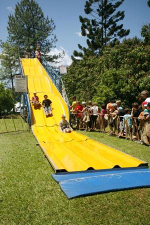 Giant Slide fun at the Community Centre